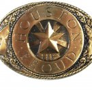 Houston Proud Limited Edition 1 of 100 Belt Buckle by Blue Bayou Brass 111015