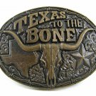 Vintage TEXAS To The Bone Belt Buckle By MONTANA SILVERSMITHS 112717