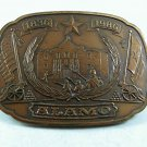 1836-1986 The Defense of The ALAMO Jewelers Bronze Belt Buckle By HPM 112917