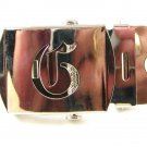 Military / Army Clamp Style Initial / Letter G Belt Buckle 9616b