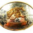 Western Cowboy Rodeo Broncho German Silver Belt Buckle by Tony Lama 102015