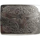Vintage Western Cowboy Rodeo Long Horn Belt Buckle 12017