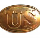 Vintage Re Enactment Civil War US Brass Lead Back Belt Buckle 101917