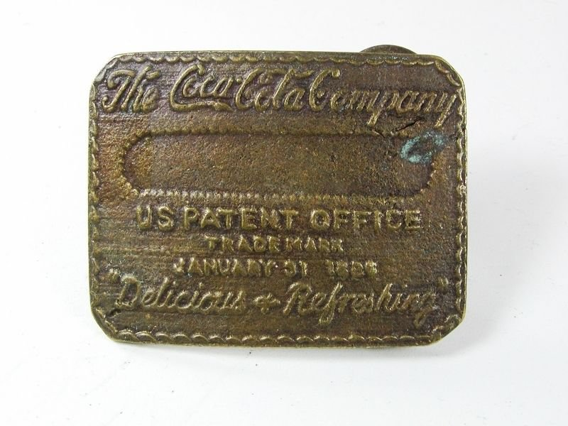 Vintage The Coca Cola Company Trade Mark January 31 1886 Belt Buckle 72216