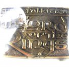 Lord of the Rings Brass Belt Buckle by Tolkien Enterprises Original Box