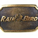 Vintage Rain Bird Solid Brass Belt Buckle Made In USA 81016