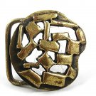 Vintage Gold Tone Odd Unusual Belt Buckle By IMC 21817
