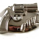 Vintage Pistol Bullets Gun Barrel Can Spin Belt Buckle 11116