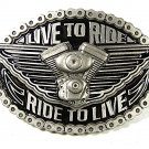 2004 American Biker Live to Ride Ride to Live Belt Buckle By EJCo  81716