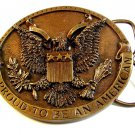 1981 Bergamont I'm Proud to be An American.Eagle Belt Buckle Made in U.S.A.