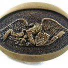 1976 American Eagle Solid Brass Belt Buckle By HERITAGE MINT 71217