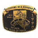 1990 Citifare Bus Rodeo Reno NV Brass Belt Buckle By ANACORTES 72816