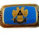 Vintage 1983 Enameled 32nd Degree Masonic Belt Buckle