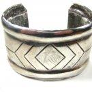 Vintage Sterling Silver Southwest Cuff Bracelet by NOAKES 10415