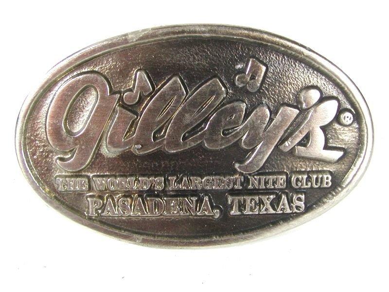 Vintage GILLEY'S Nite Club Pasadena TX Belt Buckle By EXOLCACO 72916