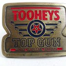 1989 TOOHEYS Top Gun Belt Buckle By GABC Made In USA 102017