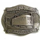 1989 Midwest Old Threshers 40th Reunion Mt Pleasant IOWA Belt Buckle 9717