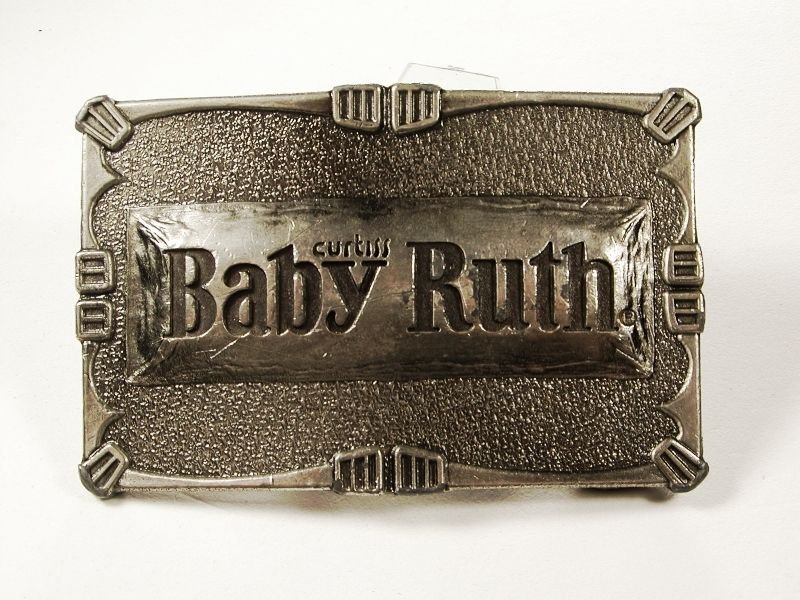 Silvertone Curtis Baby Ruth Candy Bar Belt Buckle by LEWIS BUCKLES 111315