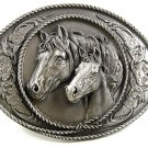 1991 Mare & Colt Horses Belt Buckle By SISKIYOU U.S.A. 22017