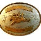 1976 4-H Rodeo Tony Lama German Silver Belt Buckle Wendy Dyer
