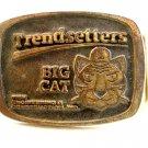 1970's Trendsetters Big Cat Engineering & Construction Belt Buckle