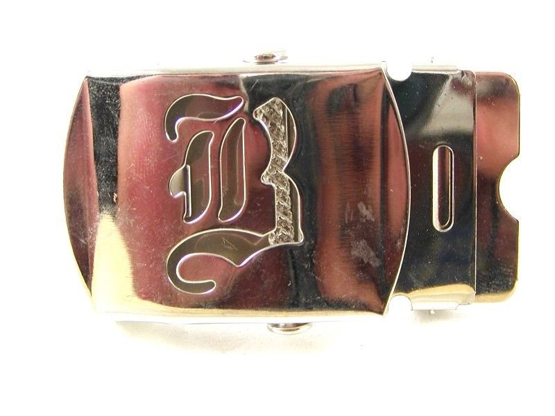 Military / Army Clamp Style Initial / Letter B Belt Buckle 9616