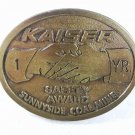 Kaiser Safety Award Sunnyside Coal Mine Brass Belt Buckle By Hit Line 4116