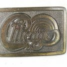 1970's Band Music the group CHICAGO Brass Belt Buckle Unbranded 22816