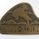 1976 Western Cowboy Rodeo BRONC RIDING Belt Buckle By DEZY 10217
