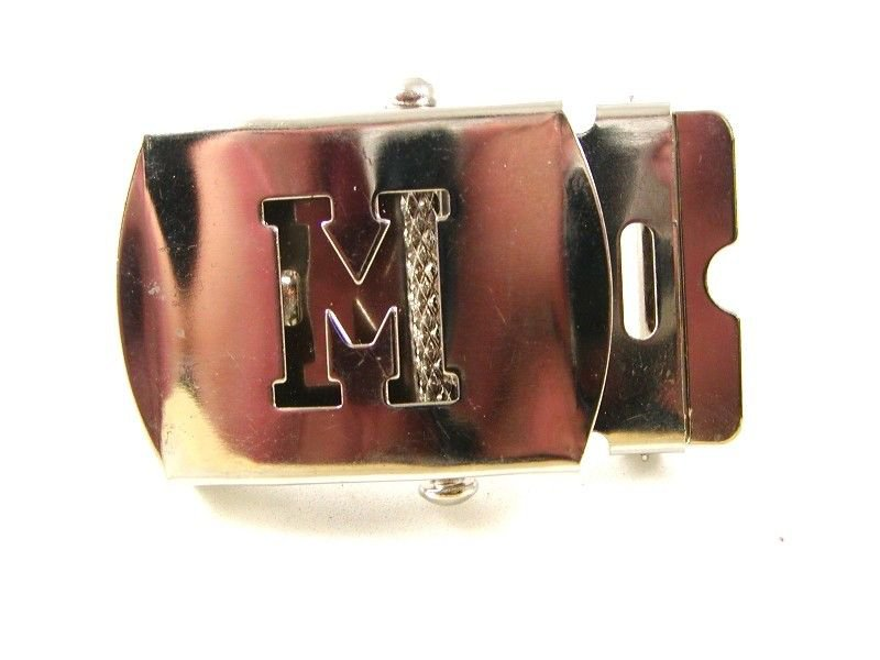 Military / Army Clamp Style Initial / Letter M Belt Buckle 9616