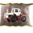 Vintage Silver Tone & Enameled Truck Belt Buckle 81216