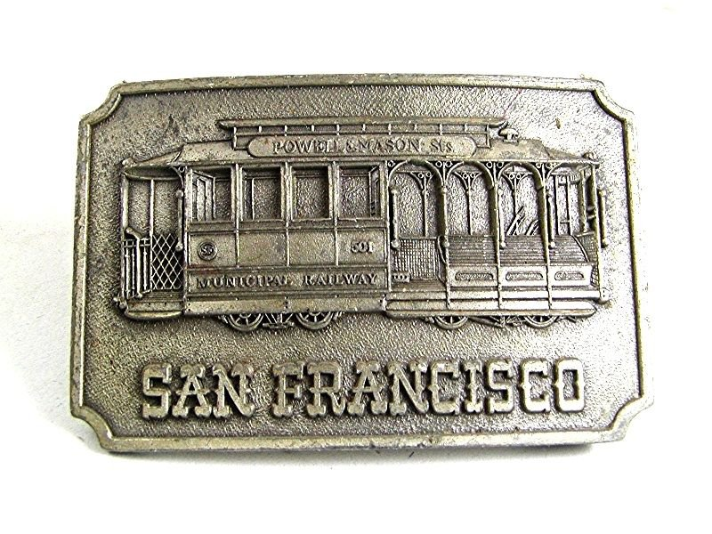 1975 San Francisco Trolley Car Powell & Masons Sts By KINNEY 82917