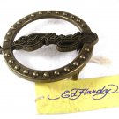 Ed Hardy Round Brassy Tone Belt Buckle 72116