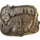 1982 Country Music Guitars Belt Buckle By GREAT AMERICAN BUCKLE CO. 103116