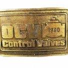 1980 OCV Control Valves Brass Belt Buckle by DYNABUCKLE 8216