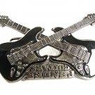 """Huge 5 1/4"""" X 3 1/4"""" Vintage FENDER GUITAR Belt Buckle 92117"""