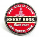 2007 Berry Brothers Our Goal is Clear Oil Wells Belt Buckle 101317