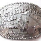 1992 National Finals Rodeo Cowboy Western Belt Buckle By HESSTON MIP