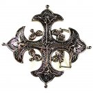 Silver Tone Renaissace Cross Belt Buckle By CLASSICO ITALIA 81616