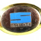 1960-70's Silver & Gold Tone & Blue STA-RITE Belt Buckle 8216