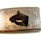 Vintage 1950 - 60's Horse Head Belt Buckle Made in U.S.A.