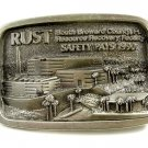 RUST South Broward County Fl.  SAFETY PAYS 1990 Belt Buckle 10232013