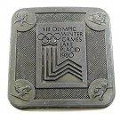 Vintage 1980 XIII Olympic Winter Games Lake Placid Belt Buckle 121217