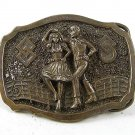 1984 Square Dancing Belt Buckle By GREAT AMERICAN BUCKLE CO. 103116