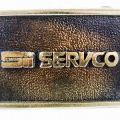 1970's Servco Solid Brass Belt Buckle By BTS USA W/ Papers 3516