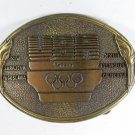 1984 USA Olympic Gold Tone Belt Buckle Made In USA 5516