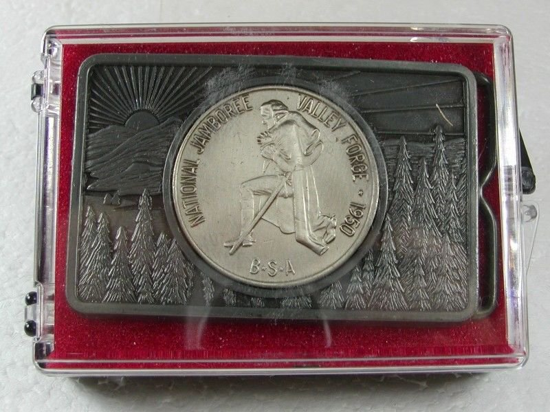 National Scout Jamboree 1950 Valley Forge Coin Belt Buckle 2616