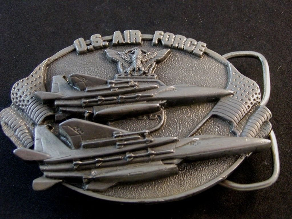 1982 U.S. Air Force A Great Way of Life Belt Buckle by Bergamont