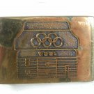 1984 USA Olympic Solid Brass Dress Belt Buckle By BTS Made In USA 5516