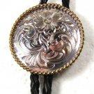 Silver Tone & Gold Tone Bolo Leather Cord Unbranded 121515